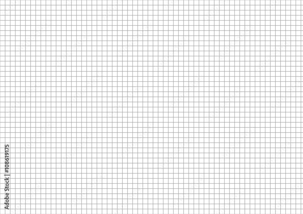 Fototapety, obrazy: Five millimeters grid on a4 size horizontal sheet