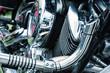Detail of veteran motorbike