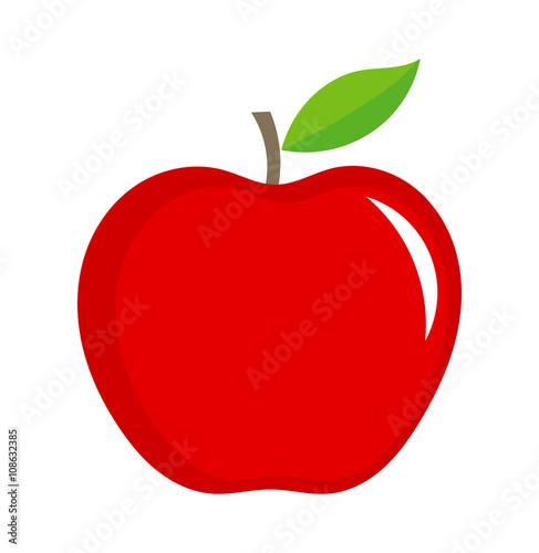 Cuadros en Lienzo Red apple illustration