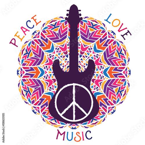 Obraz na plátně Hippie peace symbol