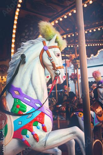 Aluminium Prints Imagination Luna park - carousel ride