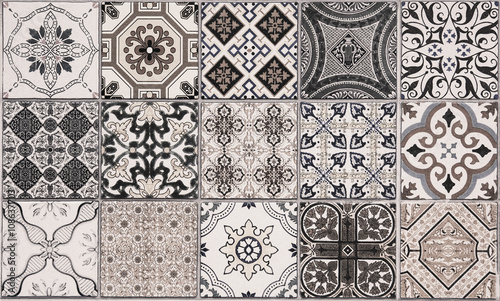 Poster Maroc ceramic tiles patterns from Portugal.