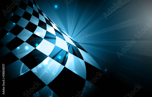 Fotografía  Racing square background, vector illustration abstraction in racing car track
