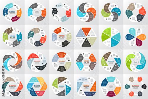 Fotografia  Vector circle arrows infographic, diagram, graph, presentation, chart