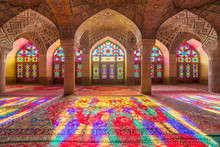 Nasir Al-Mulk Mosque In Shiraz...