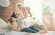 canvas print picture Happy loving family.