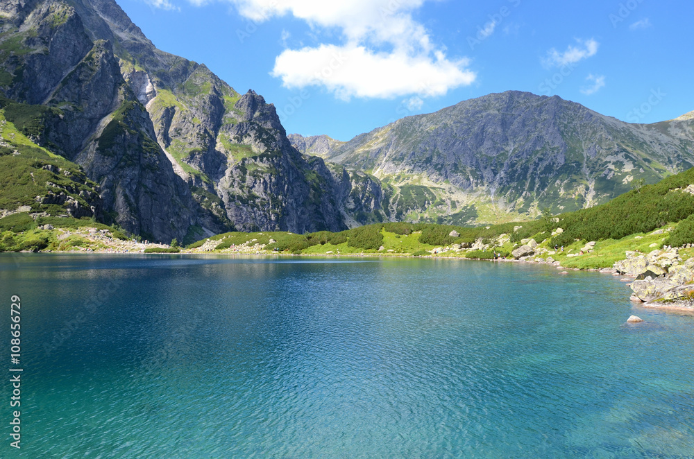 Fototapeta Lake in mountains (Czarny Staw in Tatras, Poland)