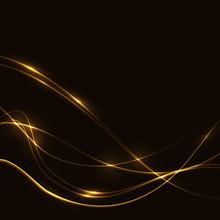 Dark Background With Gold Lase...