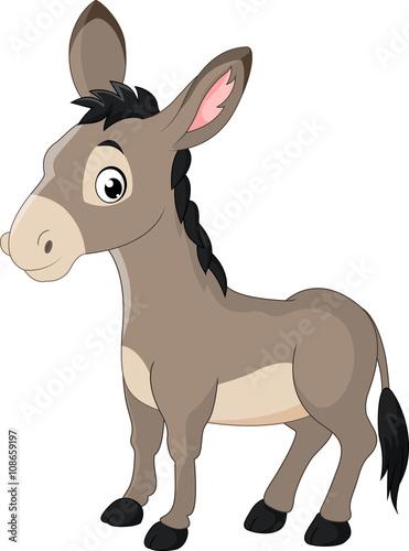 cartoon donkey smile and happy Fototapeta