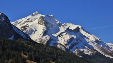Fototapeta na wymiar Majestic Mt Oldenhorn in spring