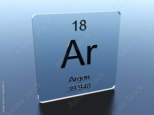 Argon Symbol On A Glass Square Buy This Stock Illustration And