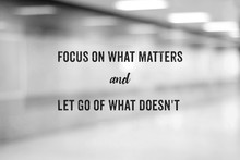 Positive Thinking Life Quotation On Blur Background