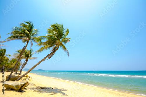 Spoed Foto op Canvas Oceanië Summer beach