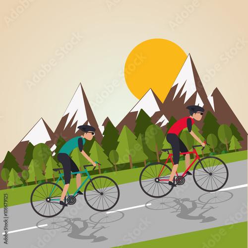 Flat illustration of bike lifesyle design - 108679125