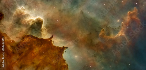 Staande foto Nasa Beautiful nebula in cosmos far away. Retouched image. Elements of this image furnished by NASA