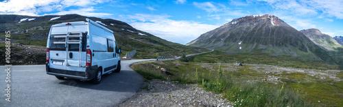 Fotografie, Obraz  mit dem Wohnmobil durch Norwegen