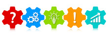 Gears Icons | Success Concept | Vector