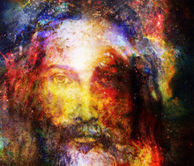 Jesus Christ Painting With Rad...