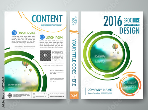 circle brochure template - brochure design template vector annual report flyers