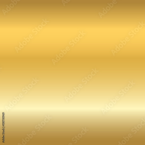 Gold texture seamless pattern. Light realistic, shiny, metallic empty golden gradient template. Abstract metal decoration. Design for wallpaper, background, wrapping, fabric etc. Vector Illustration. Wall mural