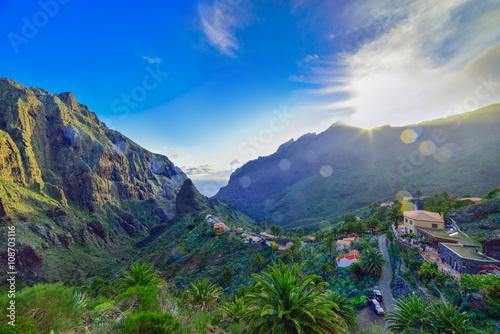 Fotografia  Landscape view of Masca village, Tenerife island, Spain