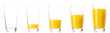 Leinwandbild Motiv Set - glass of fresh orange juice