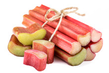 Bundle Of Rhubarb Isolated On ...