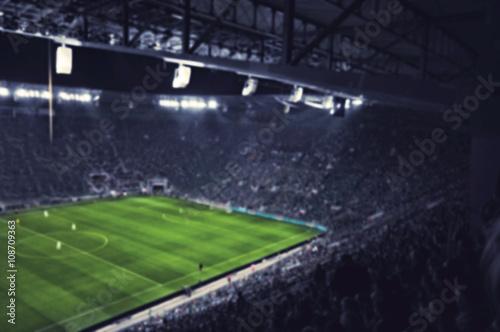 blurred football stadium Poster
