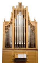 Wood Church Pipe Organ Isolate...