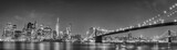 Fototapeta Miasto - New York manhattan bridge night view
