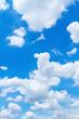 Leinwandbild Motiv clouds in blue sky