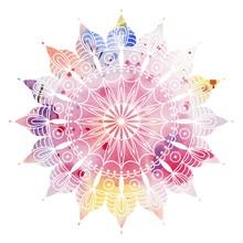 Mandala  Colorful Watercolor. ...