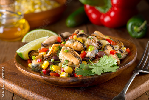 Mexican Mussel Salad