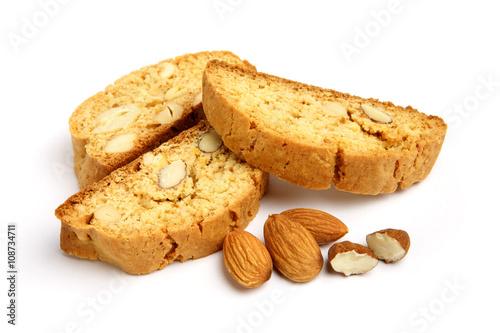 Fotografija Italian cantuccini cookie with almond filling