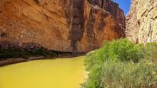 Rio Grande River In Santa Elena Canyon At Big Bend National Park