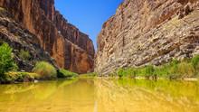 Rio Grande River And Santa Elena Canyon In Big Bend National Par