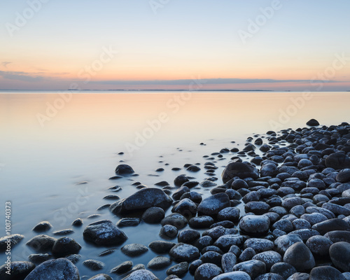 Lakeshore with pebbles