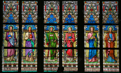 Stained Glass - Roman Catholic Saints