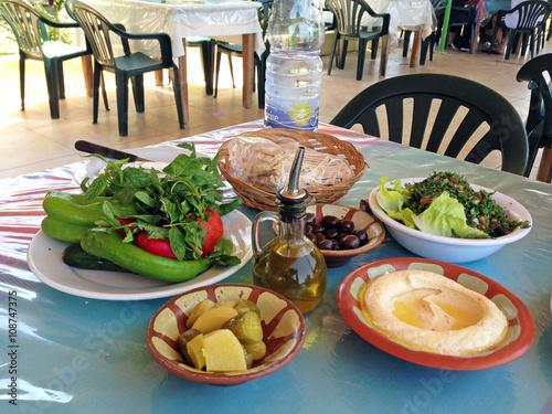 Fotobehang Midden Oosten Lebanese lunch, Beirut
