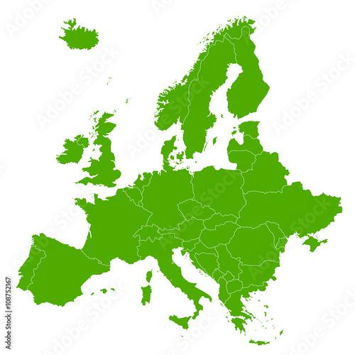 Foto  ヨーロッパ 地図 緑 アイコン