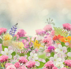 Obraz na PlexiBeautiful Flowers Background