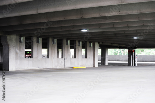 Poster Stadion empty parking lot interior