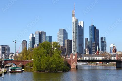 Printed kitchen splashbacks Australia Frankfurt am Main, im Vordergrund die Alte Brücke (April 2016)