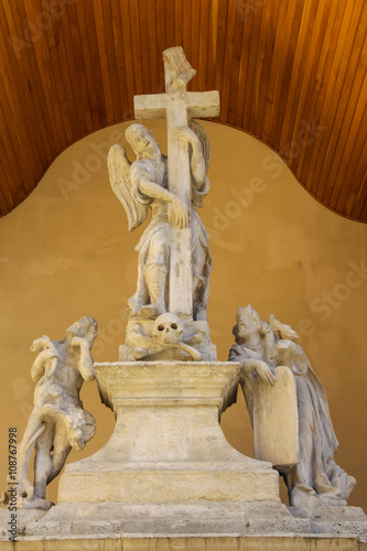 Valokuva  Sculptural composition of Latin Cathedral (Archcathedral Basilic