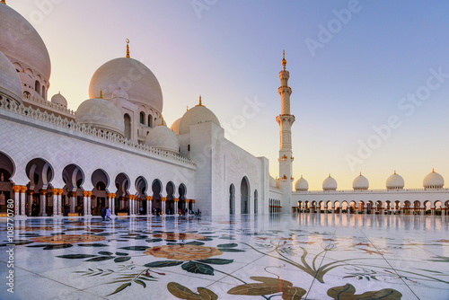Poster Abou Dabi Sheikh Zayed Grand Mosque in Abu Dhabi, UAE