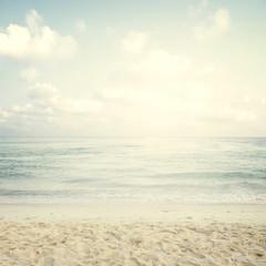 Naklejka Vintage tropical beach in summer