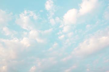 Naklejka Do sypialni Cloud on blue sky background