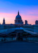 St Paul's Cathedral and the Millennium Bridge in London