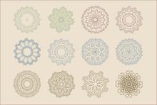 Circular Mandalas Snowflakes D...