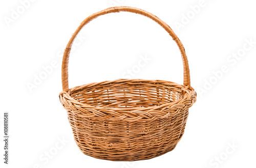 Fotografie, Obraz  wicker basket isolated